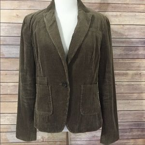 Banana Republic Brown Corduroy Jacket sz 6